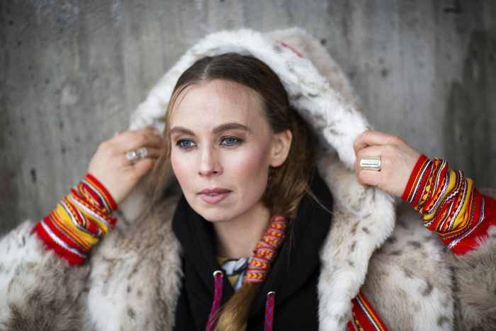 Sofia Jannok Portrait A by Elin Berge